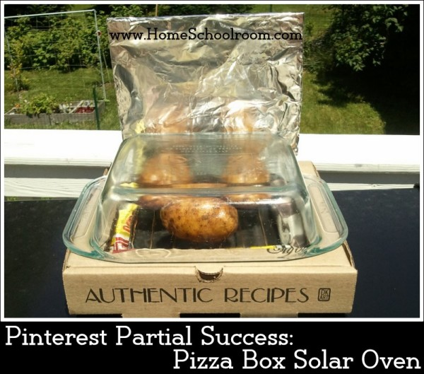 Pinterest Project Pizza Box Solar Oven