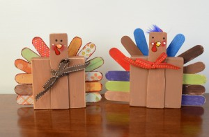 Wooden Turkey Craft