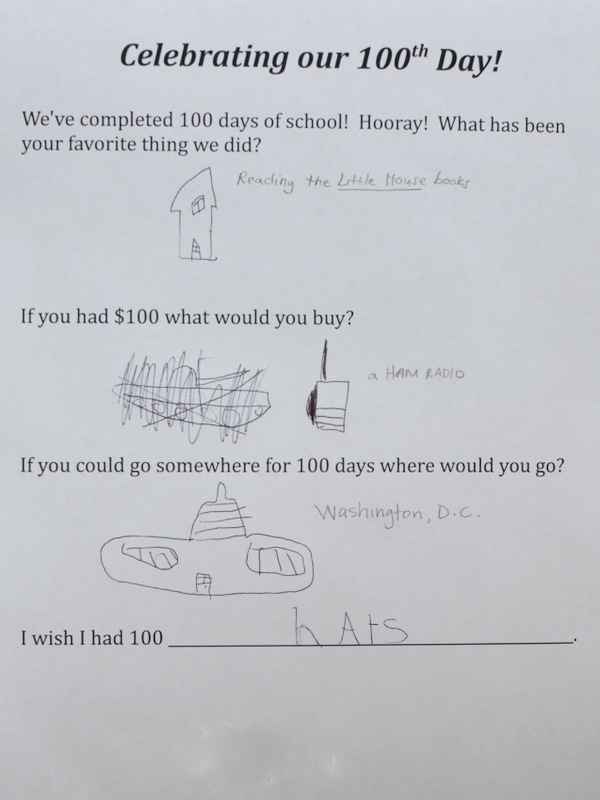 100th Day Questions