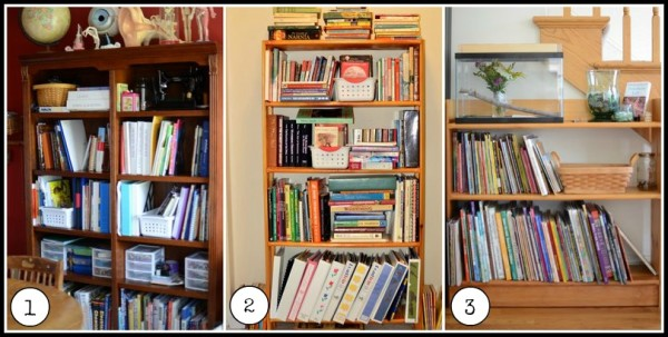 homeschool book storage