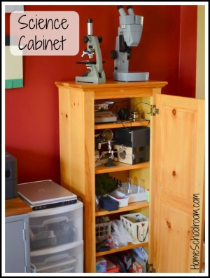 science storage for homeschool