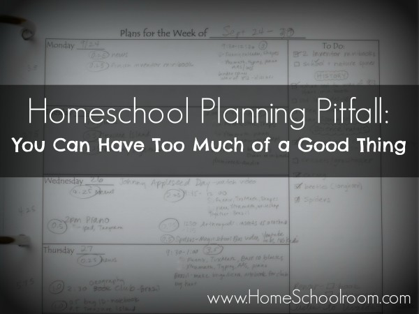 Homeschool Planning Pitfalls from Home Schoolroom